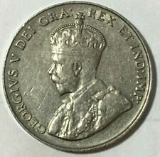 1924 ~ CANADA ~ 5 CENTS ~ GEORGE V ~ VF20 condition