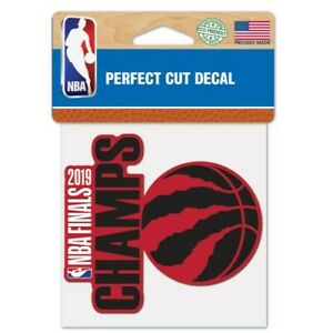 Toronto Raptors Wincraft 2019 NBA Champions Perfect Cut Decal 4x4 FREE SHIP!