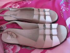 BNWOB ladies HOTTER MANGO beige comfort leather sandal shoes size 9 rrp £45