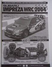 Rare New Tamiya Subaru Impreza WRC 2004 TT-01 Chassis Instructions 58333 1050353