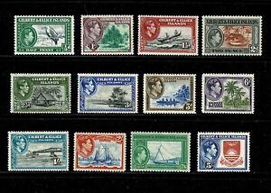 DE879 GILBERT & ELLICE ISLANDS 1939 King George VI and local motives  MNH