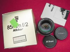 Nikon 85mm f2 Ai  #260723 ............ W/Box,Caps,I.B.
