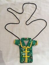 Chinese Coat Jacket Green Yellow Floral Pattern Purse Bag Novelty Phone Case