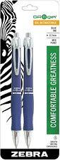 Zebra X10 Retractable Gel Pen, Medium Point 0.7mm Blue Barrel Blue Ink 2-Count