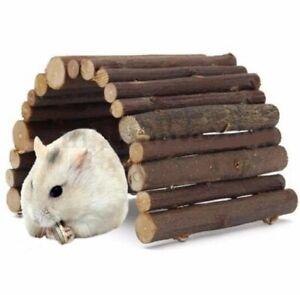 Hamster Hedgehog Mouse Rat Toy Wooden Seesaw Hanging Ladder Bridge Exercise