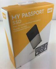 WD My Passport External SSD 512 Go Sauvegarde Automatique NOIR & ARGENT