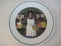 "Guy Buffet L'etalage Collection ""The Vegetable Lady"" Japan Plate, 7 3/4"" Dia"
