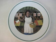 """Guy Buffet L'etalage Collection """"The Vegetable Lady"""" Japan Plate, 7 3/4"""" Dia"""