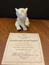 Lenox Porcelain Sitting Elephant Figurine Gold accents