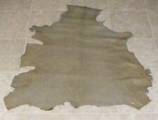 (Xze9702-1) Hide of Green Printed Lambskin Leather Hide Skin