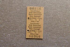 Fahrkarte AT Zentralfriedhof - Wien Aspang usw (1969) (P11)