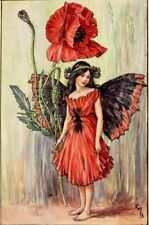 The Poppy Fairy: Cicely Mary Barker : circa 1918 Art Print Suitable for Framing