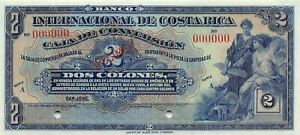 Costa Rica  2  Colones  ND. 1924  P 184s  Series A  Uncirculated Banknote NY