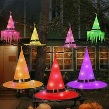 Halloween Decorations Witch Hat, Hanging Lighted Witch Hat Outdoor
