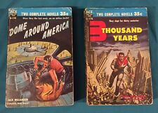 Two ACE Science Fiction Double Novels Dome Around America & 3 Thousand Years