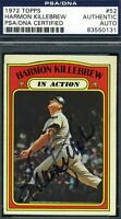 Harmon Killebrew Signed Psa/dna Certified 1972 Topps Authentic Autograph