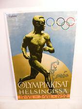 Affiche Originale Jeux Olympique de Helsinki Finlande 1952 Finlandais Sysimetsa