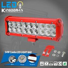 9INCH LED LIGHT BAR SPOT FLOOD COMBO OFFROAD FOG LIGHTS ATV SUV WORK LAMP