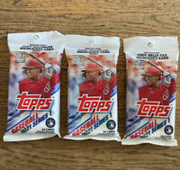 Topps Baseball Cards 2021 Series 1 Fat Pack,Unopened,Blue Parallel 3 pack Lot