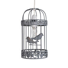 Shabby Chic Grey Birdcage Easy Fit Ceiling Light Shade Pendant Chandelier