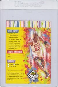 1998-99 UD Choice Draw Your Own Trading Card Michael Jordan EXCH NRMT