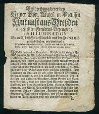 Friedrich D. grandes-muy rara vuelo después de fuente D. paz de Dresde 1746!!!