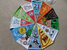 More details for 21 vintage camping club pennants from the 1970s
