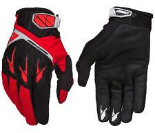 Guanti rossi per motociclista tessuto , Taglia XL