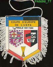 PETIT FANION 10*9 CM TOULOUSE.FC TFC Vs BAYER LEVERKUSEN UEFA CUP 1988 RARE
