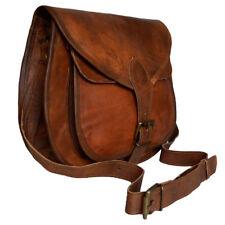 Vintage Saddle Bag Genuine Goat Leather Brown Messenger Shoulder Cross-body  Bag 8b200156ca
