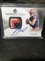 2013-14 SP Authentic Rookie Authentics Auto Patch Ryan Nassib. 3 CLR PATCH /650
