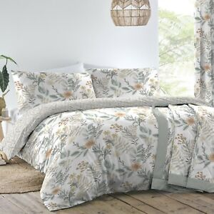 Maisie Coral And Grey Duvet Cover Sets-Bedding Sets,Matching Curtains Available