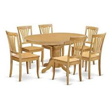 East West Furniture 7 Piece Dinette Table And 6 Chairs Set