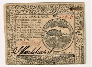 Continental Currency November 29, 1775 High Grade