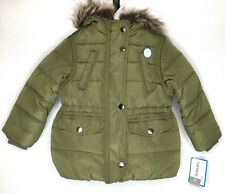 Carters Girl Puffer Jacket Fur Hood Winter Coat Parka...