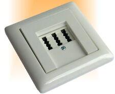 Telefondose AMT |  UP | NFN Telefondose m. Gira System 55 reinweiß glänzend Abd.