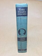 MARK TWAIN's SPEECHES 1923 Volume XXIV The Complete Works Hardcover Book Harper