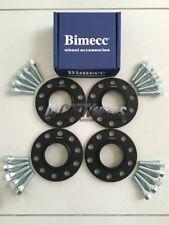2 x 12mm + 2 x 15mm Black Wheel Spacers Silver Bolts - Seat Ibiza 2002 - Present