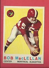 1959 TOPPS CFL FOOTBALL # 33 Bob MacLellan