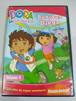 Dora L´Exploratrice Bonjour Diego - DVD Inglese e Francese Regione 2