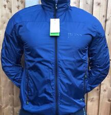 New Blue Hugo Boss Men's Foldable To A Pocket Jacket Coat Size L Green Label