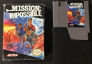 Mission: Impossible (Nintendo Entertainment System, 1990) MI NES With BOX L@@K !