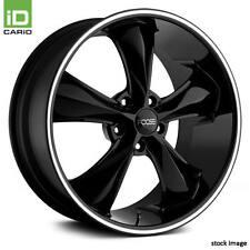 20x8.5 FOOSE Wheel +7 | 5x115 | 71.5 LEGEND Rim Black with Machined Lip Stripe