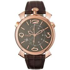 Men's Gold Plated Case Analogue Watches with Chronograph