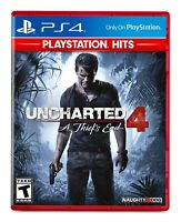 Uncharted 4: A Thief's End (PS4) Brand New | Factory Sealed PlayStation 4 Hits