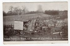 OXFORDSHIRE, NEAR FRITWELL, NEW RAILWAY, STEAM NAVVY AT WORK, 1907