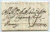 Prefilatelica prephilatelic da Fiorenzuola per Genova-30 luglio 1825-con testo
