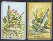#930.677 vintage swap card -NEAR MINT pair- Roadrunner, gold & silver borders
