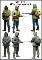 1/35 Post Apocalyptic Stalker Hunter Figure Unpainted Unassembled Resin Kit V2