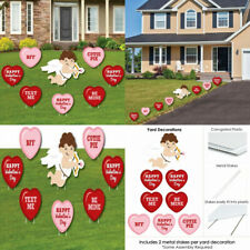 Big Dot of Happiness Conversation Hearts - Yard Sign & Outdoor Lawn.